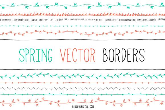 Spring Vector Borders