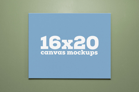 16x20 Canvas Mockups Product Mockups On Creative Market