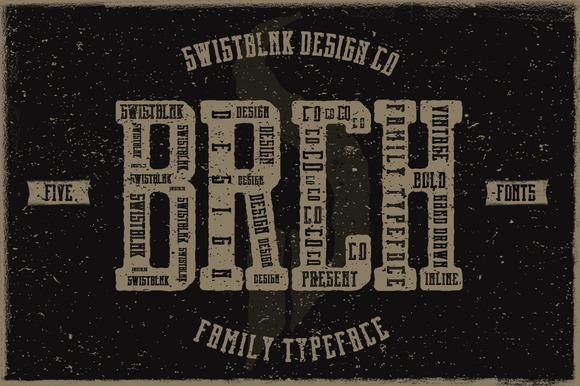 免费字体 Brch Family Typeface丨反斗限免