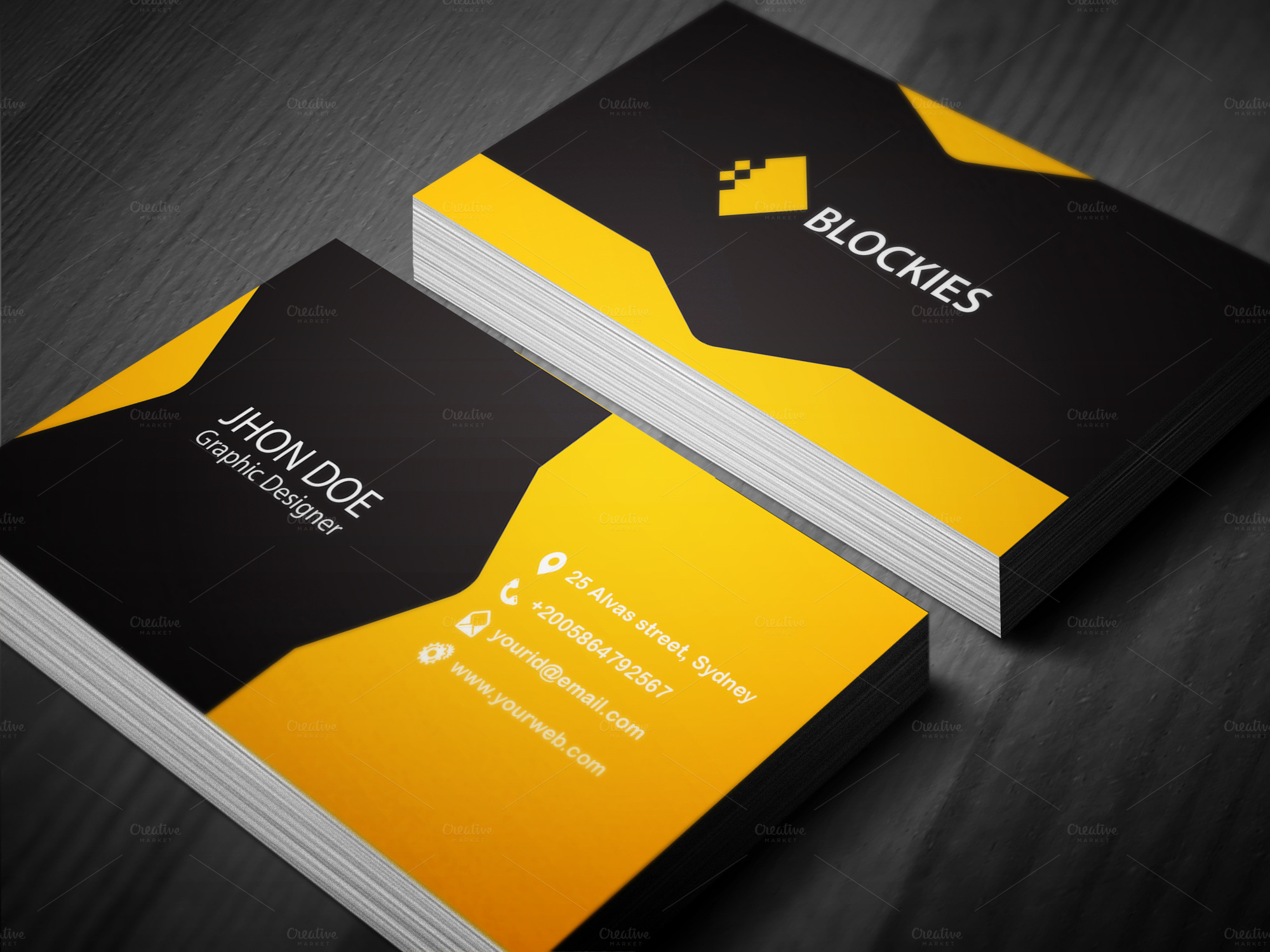 Creative business card template business card templates for Creative business card templates free