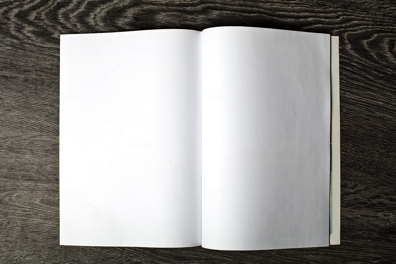 Open magazine with blank pages ~ Abstract Photos on Creative Market