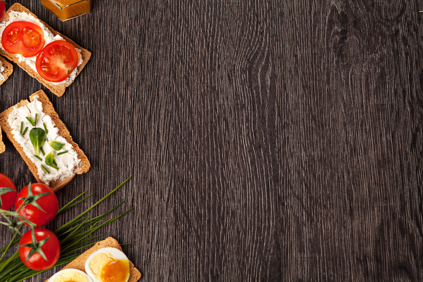 Tasty canapes food border background ~ Food & Drink Photos ...