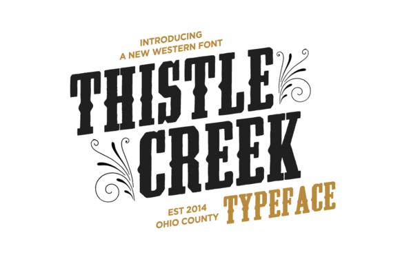 Thistle Creek Font - Slab Serif