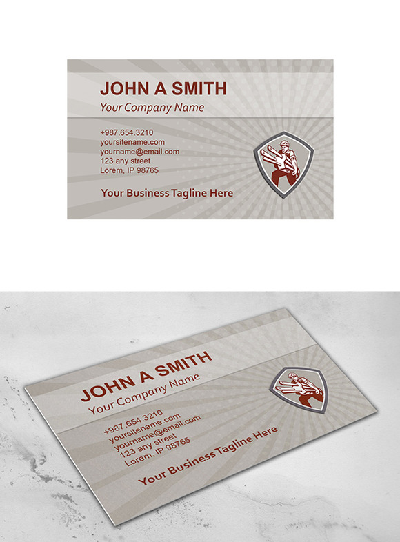 Business card template electrician c business card for Electrician business cards templates free