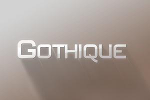 Gothique Modern Sans Serif Font