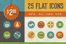 25 Icons | Vintage Flat Series