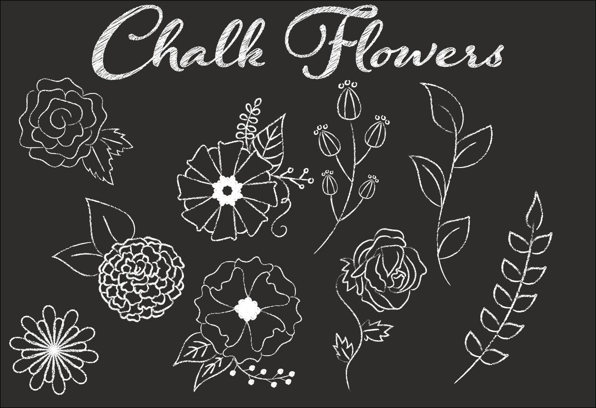 Clip Art Chalk Flower Illustrations ~ Illustrations on Creative Market: https://creativemarket.com/sonyadehart/39292-Clip-Art-Chalk-Flower...