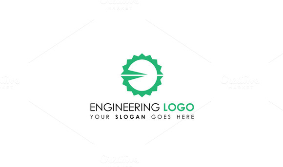 Flat gear engineering logo template logo templates on for Design and engineering companies