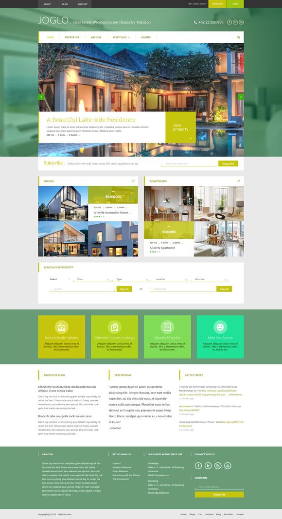 Joglo Woocommerce Real Estate Theme