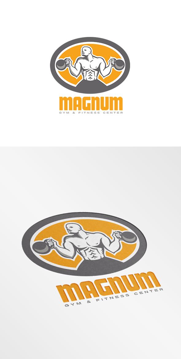 magnum gym and fitness center logo