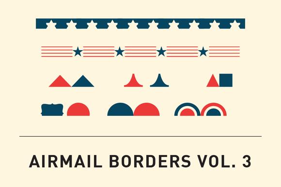 Airmail Borders Vol. 3 - Patterns