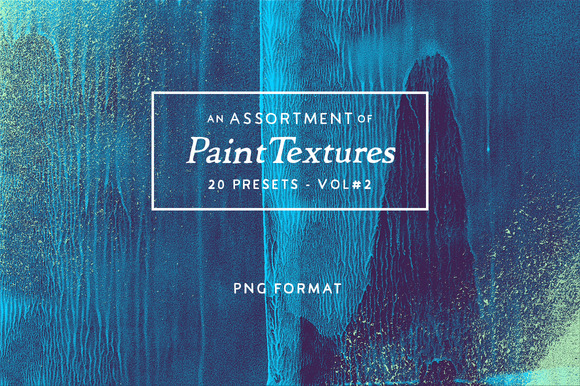 20 Assorted Paint Textures Vol.2