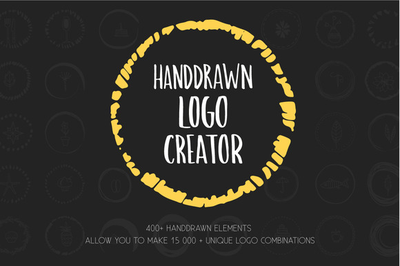 Handdrawn Logo Creator Bundle