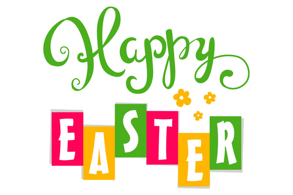 Happy Easter. Hand Lettering  - Illustrations