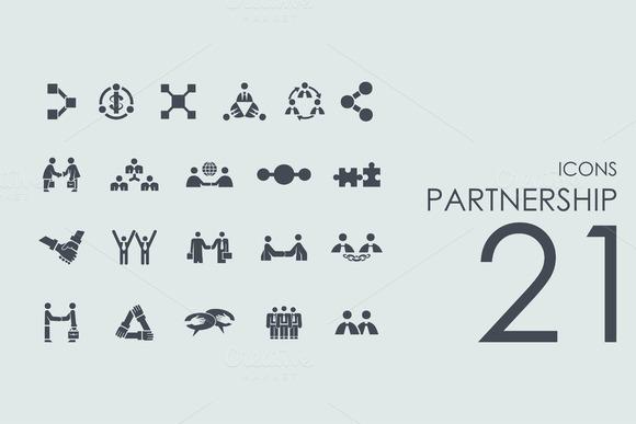21 Partnership Icons