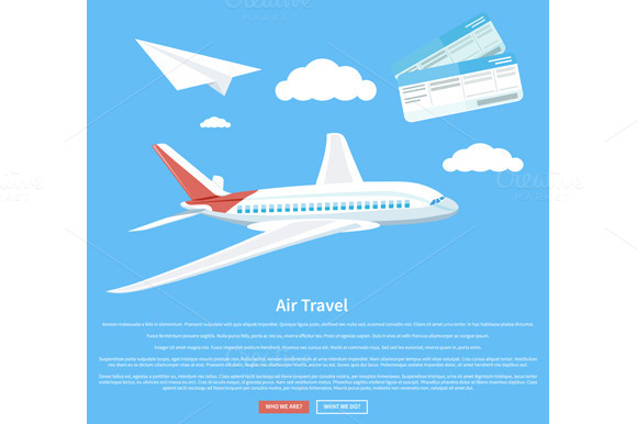 Air Travel Concept Flying Plane