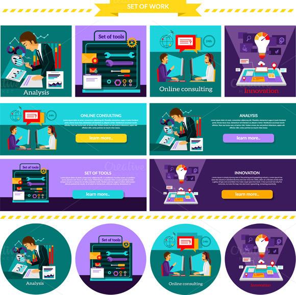 Analysis Innovation. Set Tools - Illustrations