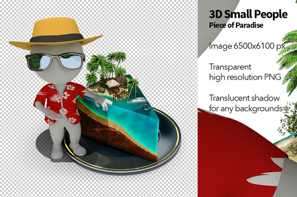 3D Small People Piece Of Paradise