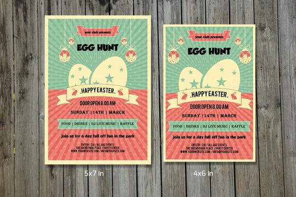 Easter Egg Hunt Party Flyer-V212