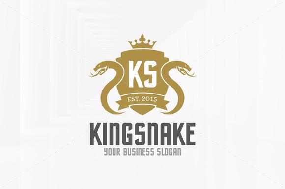 King Of Snake Logo Template