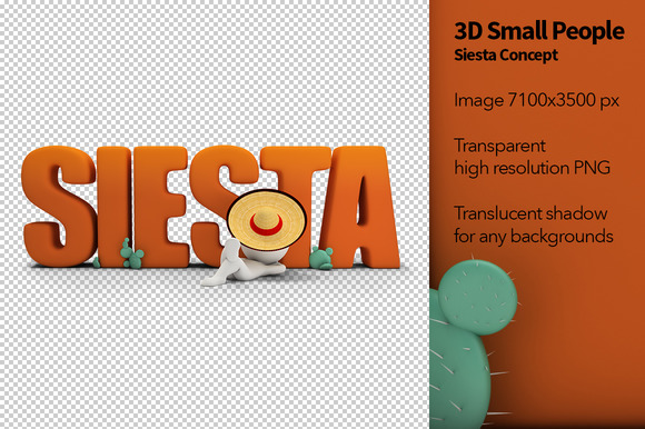 3D Small People Siesta Concept