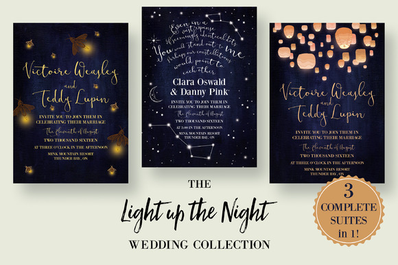 Light Upthe Night Wedding Collection