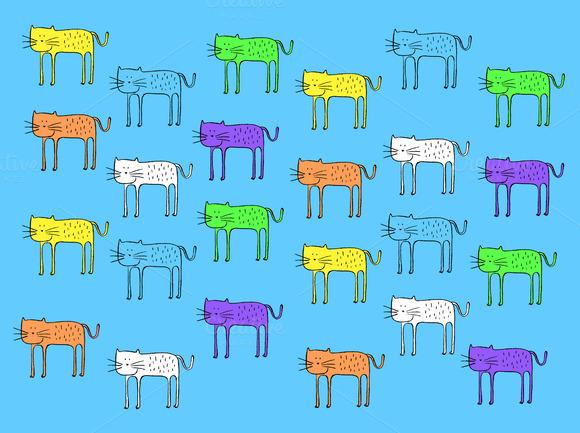 Color Cat Pattern