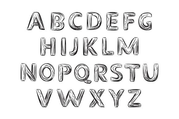Hand Drawn Letter Alphabet