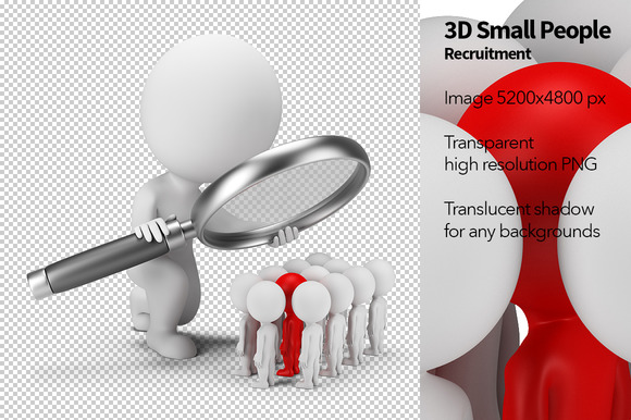 3D Small People Recruitment