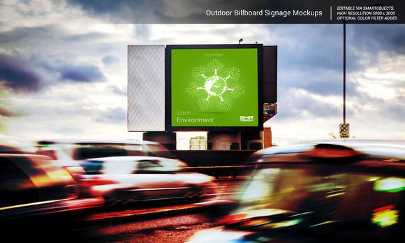 Advertising Billboard Signage Mockup