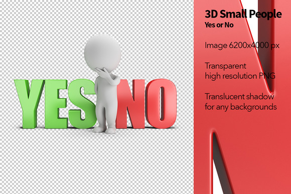 3D Small People Yes Or No