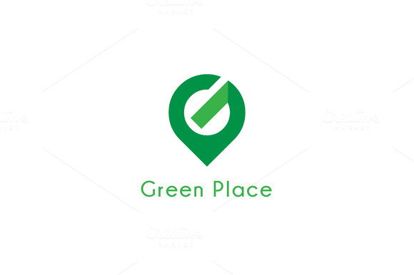 Green Place Letter G Logo