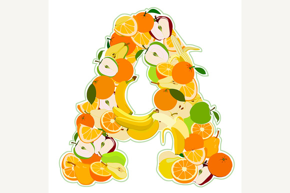 Letter Made Of Fruits