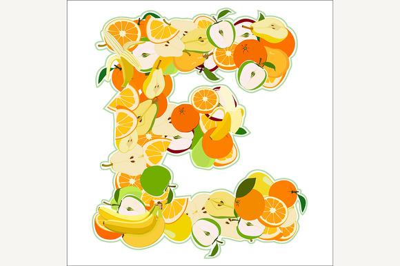 E Made Of Fruits