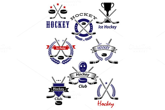 Ice Hockey Game And Club Symbols