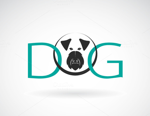Vector Design Dog Is Text
