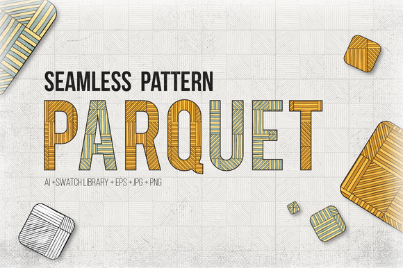 Parguet Seamless Patterns Set