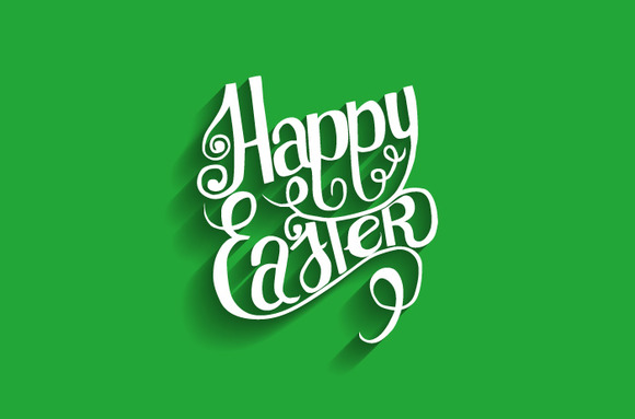 Happy Easter. Lettering. - Graphics