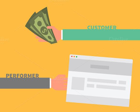 Payment Order. Customer Performer - Illustrations