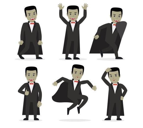 Dracula Vampire Cartoon Character