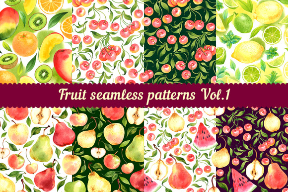 Fruit seamless patterns Vol. 1 - Patterns