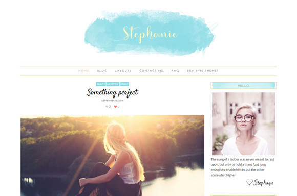 Feminine WordPress Theme - Stephanie - Blog