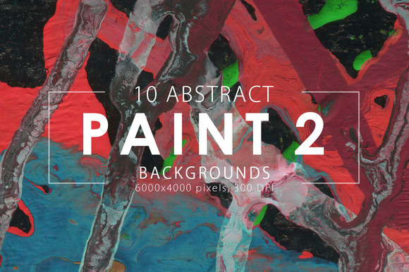 Abstract Paint Backgrounds Vol. 2 - Textures