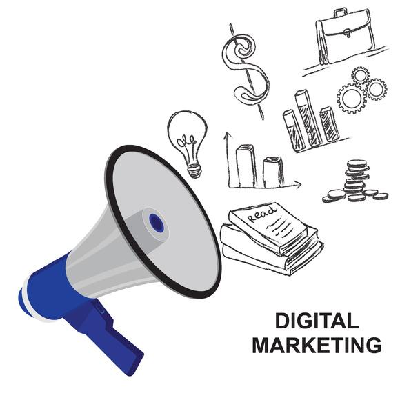 Digital Marketing Concept Megaphone