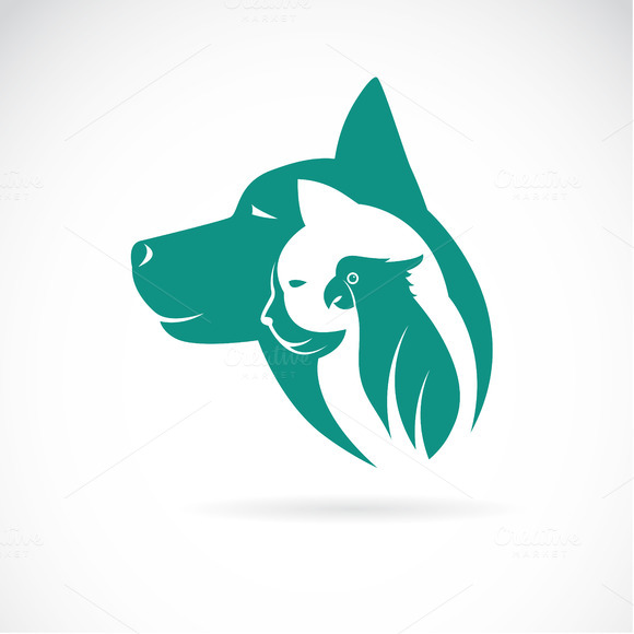 Vector Image Of An Dog Cat And Bird