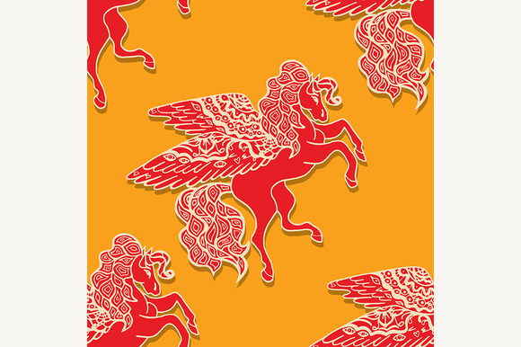 Pattern With Horses