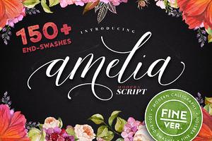 Amelia Script - Fine version