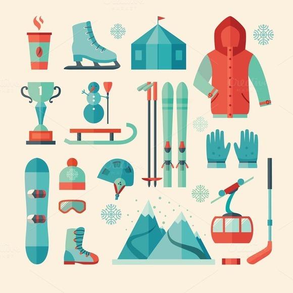 Set Of Winter Sports Icon