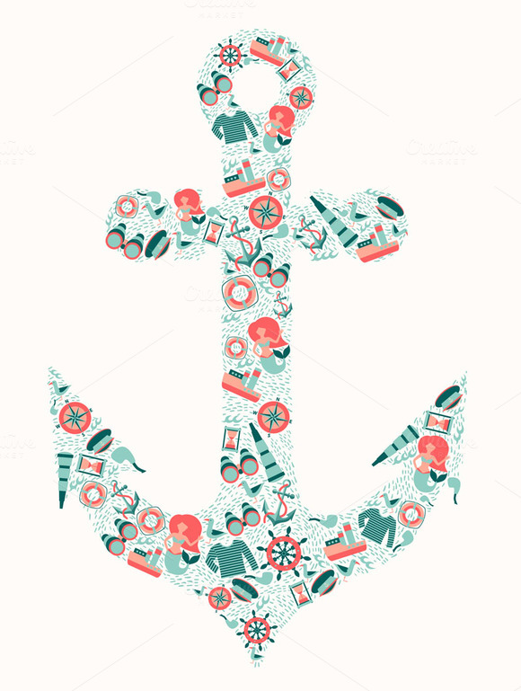 Anchor Contour Vector Pattern