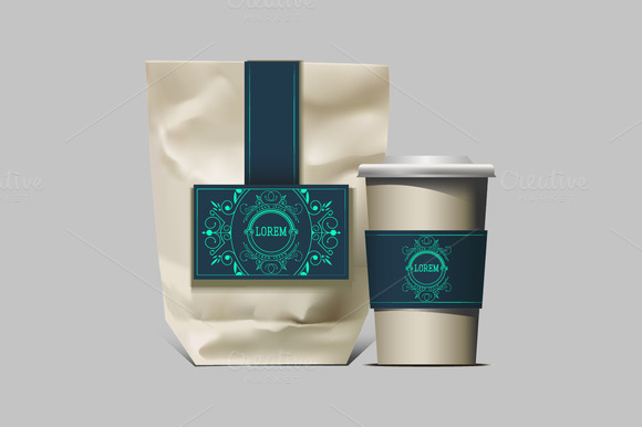 Vector coffee packaging. Mock up - Product Mockups